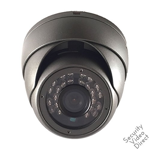 Mini Dome Security Camera - SVD, HD-TVI IR Mini Dome Security Camera, 2.4 Megapixel 1080P, 2.8mm Fixed Lense, 65' IR Outdoor Dome, Black