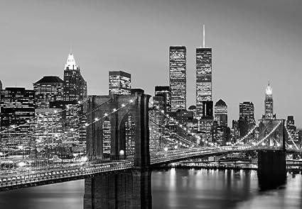 Kiss New York Brooklyn Bridge Photo Wallpaper 366x254cm Wall Mural