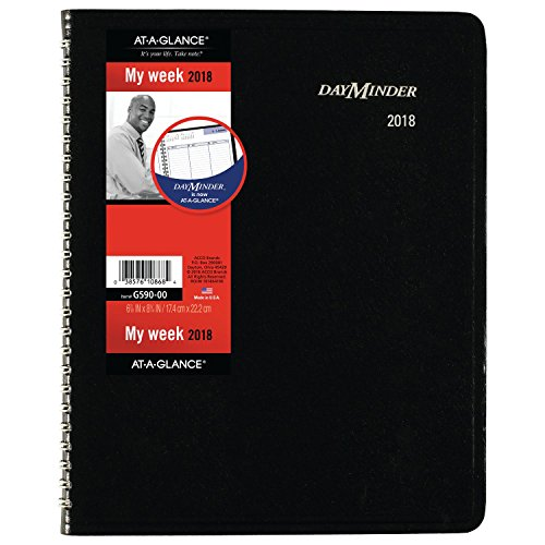 Acco Brands Planner (at-A-Glance DayMinder Column-Style Weekly Planner, January 2018 - December 2018, 6-7/8