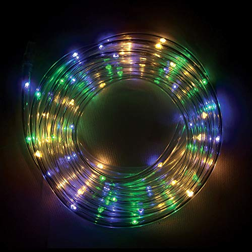 Duval LLC Gold, Green & Purple LED Rope Light, Party Carnival Supplies, 100 Lights, 26 1/4ft Total Length ()