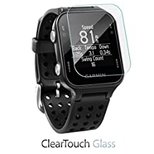 Garmin Approach S20 Screen Protector, BoxWave® [ClearTouch Glass] 9H Tempered Glass Screen Protection for Garmin Approach S20