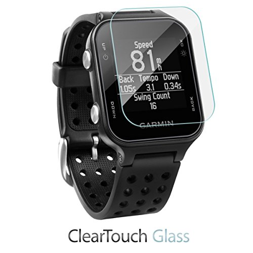 Garmin Approach S20 Screen Protector, BoxWave [ClearTouch Glass] 9H Tempered Glass Screen Protection for Garmin Approach S20