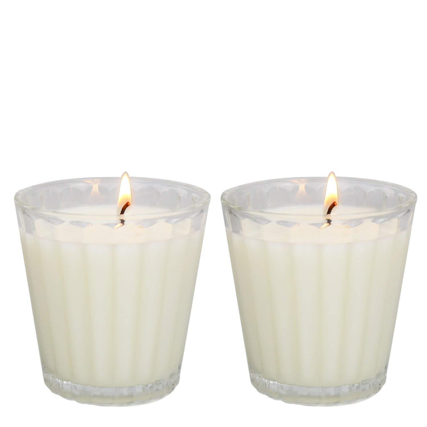 Citronella Candles Scented, Giant 1lb Natural Soy Wax, Glass Jar 4 oz, 25-30 Hour Burn, Natural Mosquito Repels, Outdoor Indoor by YIHANG