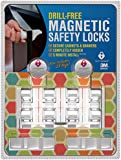 "Drill Free Magnetic Cabinet & Drawer Locks: 8 Locks+2 Keys - Free Shipping - Comes With Amazon A to Z Guarantee - Uses Super Strength 3M Adhesive For Baby Proofing - 5 Minute ""No Tools"" Installation."