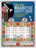 Drill-Free Baby Magnetic Cabinet Locks: 8 Locks + 2 Keys | 5 Minute Installation