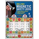 "Drill Free Magnetic Cabinet & Drawer Locks: 8 Locks+2 Keys - Comes With Amazon A to Z Guarantee - Uses Super Strength 3M Adhesive For Baby Proofing - 5 Minute ""No Tools"" Installation"