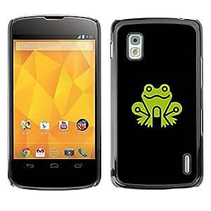 Paccase / SLIM PC / Aliminium Casa Carcasa Funda Case Cover para - smile Frog - LG Google Nexus 4 E960