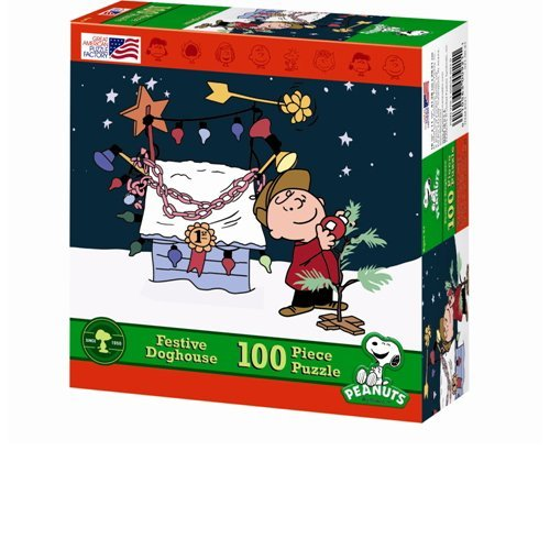 Charlie Brown Festive Doghouse Jigsaw Puzzle by Great (Charlie Brown Puzzle)