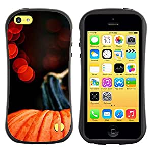 Pulsar iFace Series Tpu silicona Carcasa Funda Case para Apple iPhone 5C , Luces de Halloween Rojo Naranja""