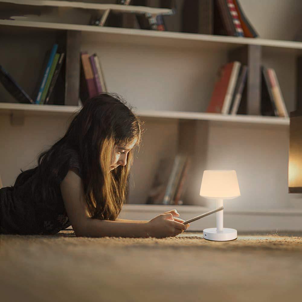 Lampada da Tavolo Musicale Bluetooth con Controllo Touch, 3 Livelli di Luce Calda, 5 Colori, Adatta per Bambini, Studio, Camera da Letto, Soggiorno - Ranipobo