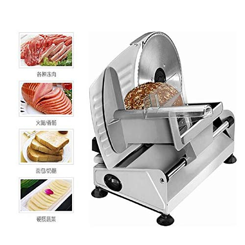 Meat Slicer 110V/220V Electric Household Cut Mutton Roll Slicer Beef Small Business Toast Bread Frozen Meat Meat Planer (110V, US Plug)