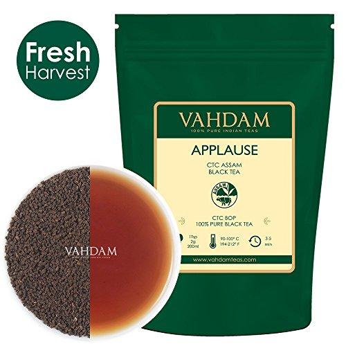 VAHDAM, Assam CTC Black Tea Loose Leaf (100+ Cups) | STRONG, BOLD & RICH Assam Tea Loose Leaf | 100% PURE Assam Chai Tea | EVERYDAY ASSAM MILK TEA | Brew as Hot Tea or Latte | 9oz