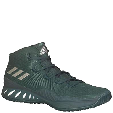 d63015e3ca0d adidas Crazy Explosive 2017 Shoe Men s Basketball 7.5 Dark Green-White-Silver  Metallic
