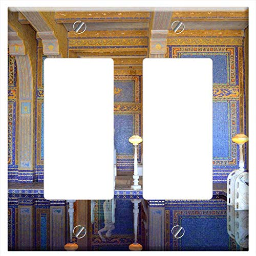 Switch Plate Double Rocker/GFCI - Swimming Pool Pool Indoor Hearst Castle ()