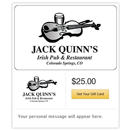 Jack Quinn Irish Ale Pub & Restaurant Gift Cards - E-mail -