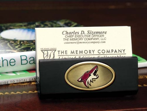 The Memory Company NHL Arizona Coyotes Official Black Business Card Holder, Multicolor, One Size