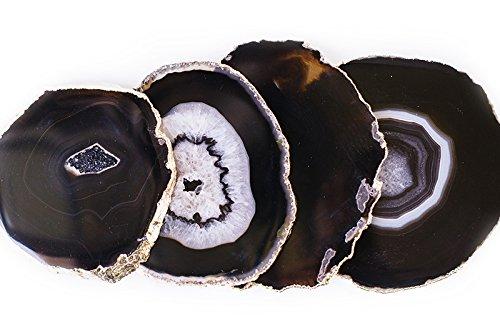 Espresso Black Gold Plated Coasters