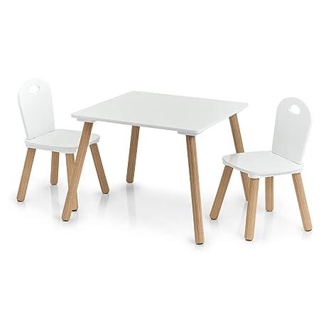 Scandi - Juego de sillas y Mesa Infantiles (3 Piezas)