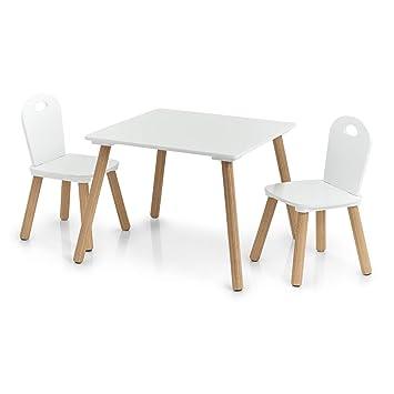 Scandi - Juego de sillas y Mesa Infantiles (3 Piezas): Amazon.es: Hogar