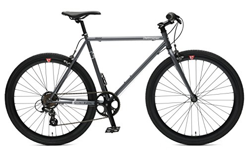 Retrospec Bicycles Mantra-7 Urban Commuter Bicycle, Graphite/Black, 53cm/Medium