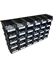 1035 Piece Grade 5 Nut Bolt and Washer Assortment Hex Head Bolts, Hex Nuts, Lock and Flat Washers Standard Coarse Thread with 30 Plastic Bins