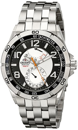 Orient Men's CFM00001S Power Reserve Semi-Skeleton Silver-Tone Automatic Watch (Skeleton Reserve)