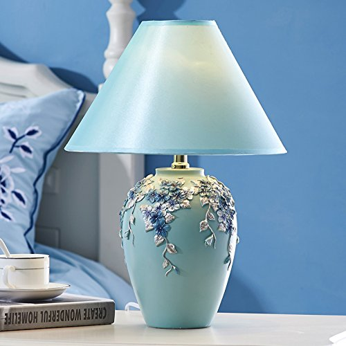CLG-FLY Creative European pastoral warm bedroom bedside lamp lamp dimming lamp 16×43cm,D-65010A,Button switch