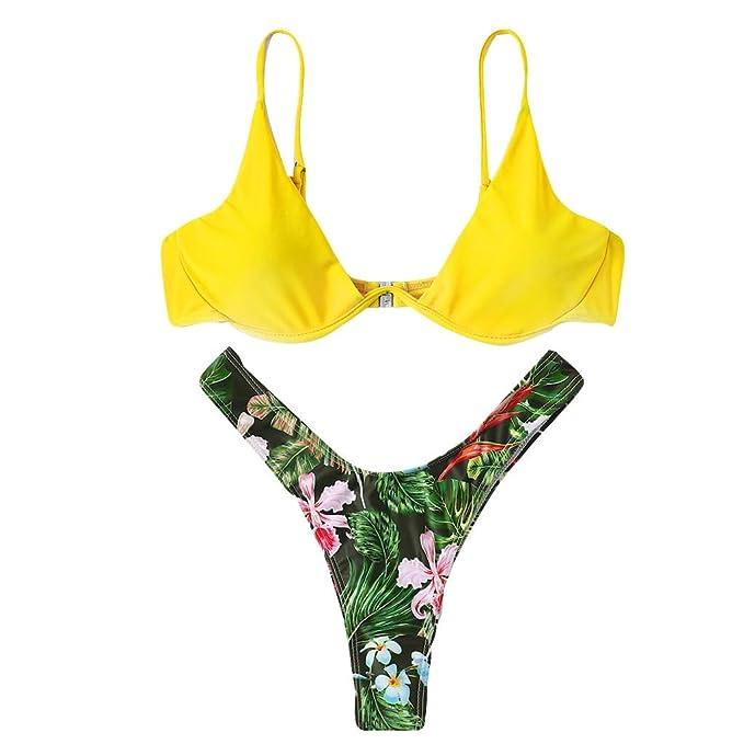 Sylar Bikinis Mujer 2019 Push Up Bañadores Mujer Reductores con Aros Traje De Baño Mujer Dos Piezas con Relleno Brasileños Bañador De Playa