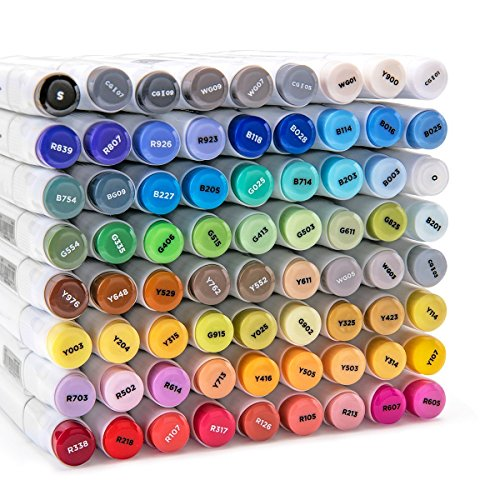 Bianyo Classic Series Dual Tip Art Markers with Travel Case Set of 72, Alcohol-based by Bianyo (Image #4)