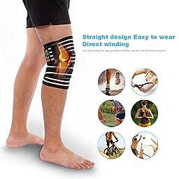Yosoo Knee Wraps Calf Compression Knee Sleeve Thigh Adjustable Wrap Leg Elastic Support Brace for Women Men