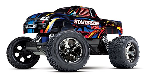 Stampede Monster Truck - Traxxas Stampede Vxl 2WD Monster Truck, Rock n' Roll, 1/10 Scale