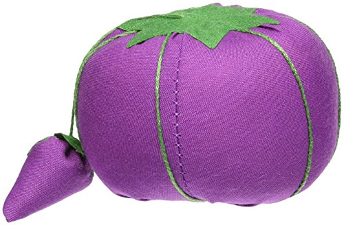 Dritz Tomato Pin Cushion for Sewing, Blue/Pink/Purple