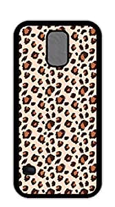Cute Cartoon Back Cover case for samsung galaxy s5 for girls - Black and brown leopard print
