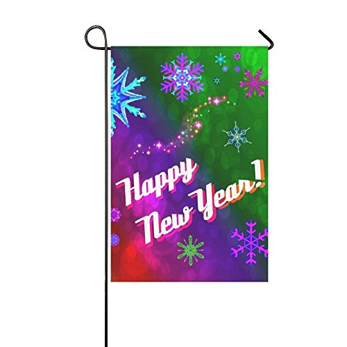 Happy New Year Garden Flag for Christmas Holiday-Best for Pa