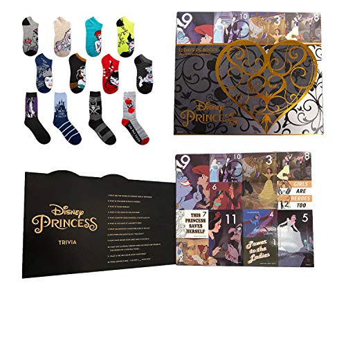Disney Princess and Villians 12 Days of Socks Advent Calendar Gift Set (Womens) -