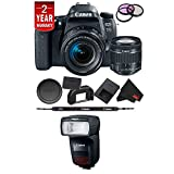 Cheap Canon EOS 77D DSLR Digital Camera 18-55mm Lens International Model Bundle + Canon 470 EX AI Flash
