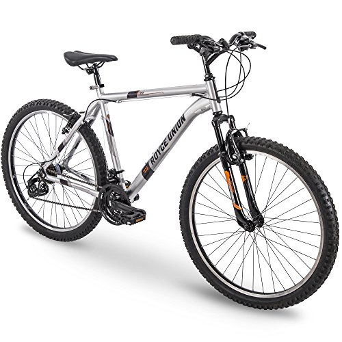 "26"" Royce Union RTT Mens 21-Speed Mountain Bike, 18"" Aluminum Frame, Trigger Shift, Silver"