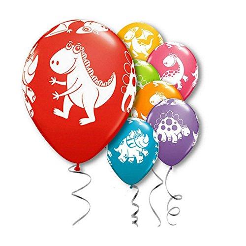 Zebratown 100pcs 12'' Jurassic Park Dinosaur Printed Animal Latex Balloons Baby Shower Children's Birthday Party Decoration Balloons by Zebratown