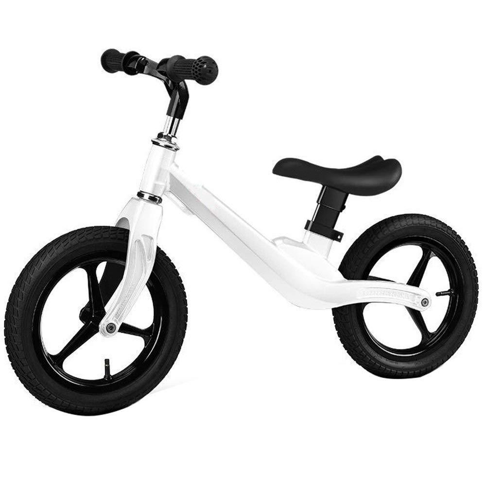 blanco Sport Balance Bike- Con reposapiés Neumáticos de goma Neumáticos uomoija antideslizante Sin pedal Empujar y caminar Niños y niños pequeños Entrenamiento deportivo Caminar bicicleta Para niños Ni&ntild
