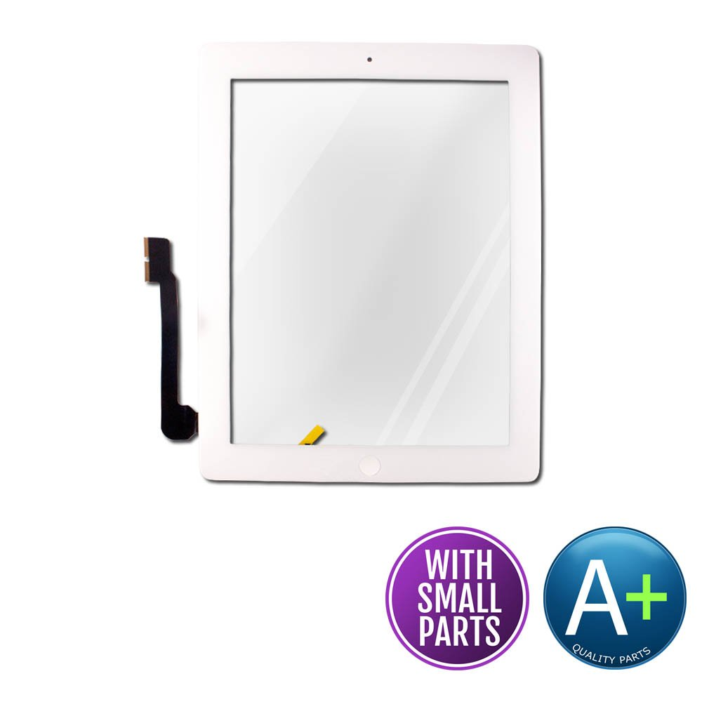 Touch Screen Digitizer for Apple iPad 4 White - Includes Small Parts (A1458, A1459, A1460)