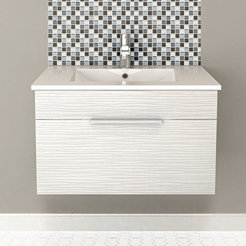 Cutler Kitchen & Bath Textures 30 in. Wall Hung Bathroom Vanity