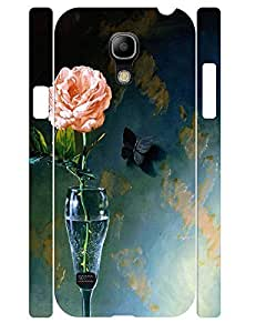 Tough Phone Dust Proof Skin Case for Samsung Galaxy S4 Mini I9195 Hipster Rose WANGJING JINDA