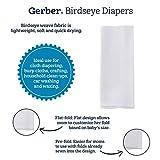 Gerber Birdseye Flatfold Cloth Diapers, White, 10