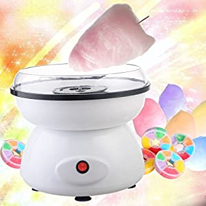 TAVLAR Mini Electric Cotton Candy Maker Machine Sugar Floss Countertop Store Carnival