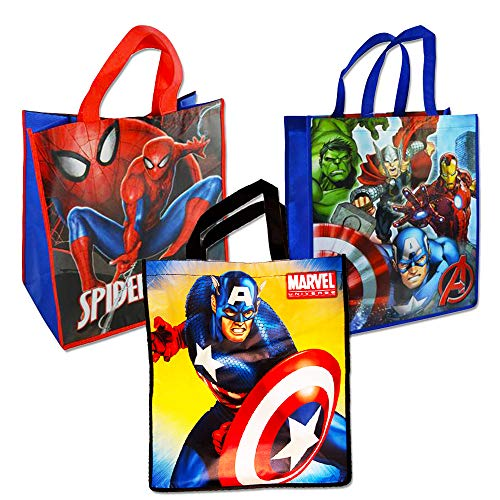 Marvel Avengers Tote Bags Value Pack -- 3 Reusable Tote Part