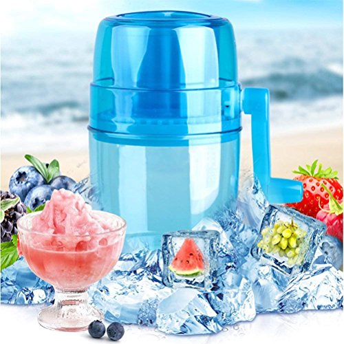 (XDOBO Automatic Ice Cream Maker, DIY Ice Cream Grinding,Snow Cone Smasher Grinder, Manual Ice Crusher Shaved Ice Machine Portable Ice Breaker,Non-Slip,Ice Cream Machine for Kids)