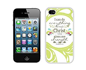 iphone covers iPhone 6 plus Cases,Iphone 6 plus,Colorful Hbrid With Dot Case Cover Protector For Iphone 6 plus, Christian Theme - Bible Verse Philippians 413 - Durable and lightweight Cover Case White Cover Iphone 6 plus Cases White Cover