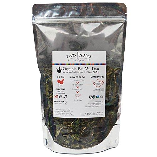 Two Leaves Tea Company Organic Bai Mu Dan (white peony), Loose, 0.25 Pound Resealable Pouch ()