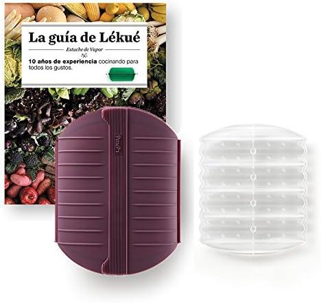 Compra Lekue - Estuche de vapor, Con bandeja y libro en Español, Berenjena, 3 - 4 personas (1400ml) en Amazon.es