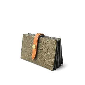 DUOER Home Múltiples Tarjetas de Cuero Carteras Femeninas Corto Simple Mini Tarjeta de crédito para Empresas Tarjetas de crédito Estuches para Tarjetas de ...